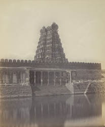 Secundermalie [Skandamalai], near Madura. The Tank and part of the temple